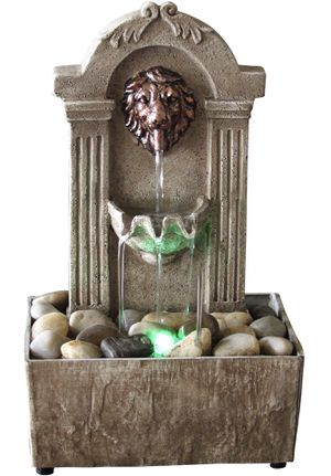 Traditional Lion Head 🦁 Color Changing LED Fountain for Sale in South El Monte, CA