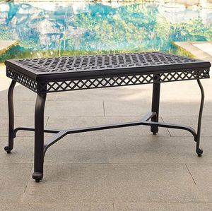 Outdoor metal black coffee table for Sale in Fort Worth, TX
