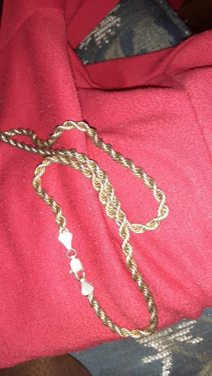 18k solid gold rope chain.. 18 in. for Sale in Gilmer, TX