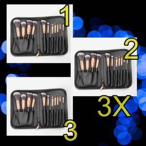 11pcs professional makeup brushes with cosmetic bag. 3 set for Sale in Los Angeles, CA