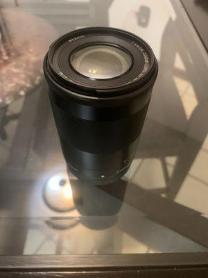 EF-M 55-200mm 1:4.5-6.3 IS STM Zoom Lenses - Black for Sale in Fort Wayne, IN