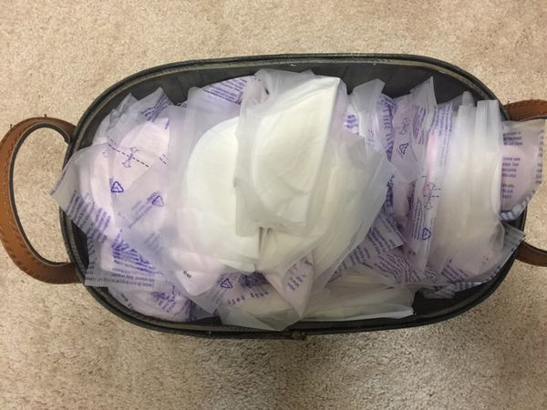 Full basket of Breast Pads