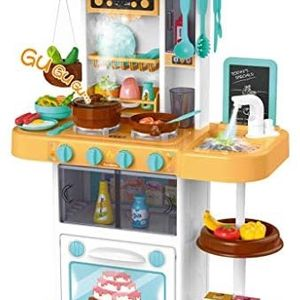 US in Stock Plastic Play Kitchen Set with Realistic Lights & Sounds Kids Kitchen Playset &43 Pcs Kitchen Accessories Set for Sale in Haines City, FL
