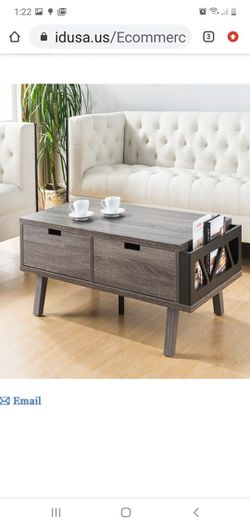 New Coffe Table With Two Big Drawer & A Magazine Rack for Sale in Fullerton, CA