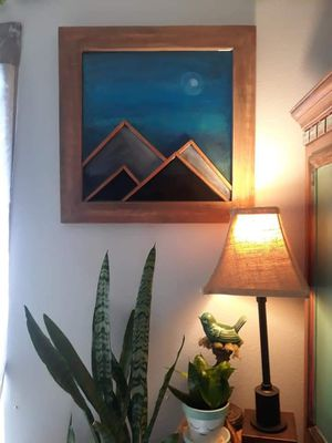 Hand Crafted Wood & Resin Mountain Art for Sale in New Port Richey, FL