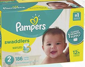 Pampers diapers/pañales size 2 Swaddlers for Sale in Downey, CA