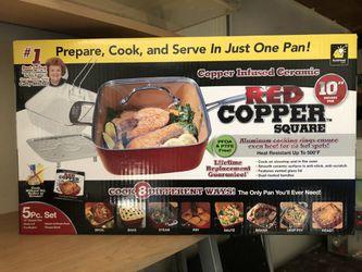 """Red Copper Square 10"""" pan for Sale in Dallas,  TX"""