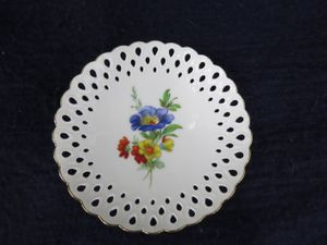 "RARE 1948-1949 Weimar Porzellan Reticulated Blue Floral 4-3/4"" Candy Dish #49 for Sale in Belmar, NJ"