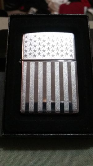 Zippo with Embossed American Flag for Sale in Portland, OR