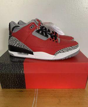 2020 Nike Air Jordan 3 Retro SE SZ 9 Fire Red Cement Grey Black OG CK5692-600 for Sale in Miami, FL