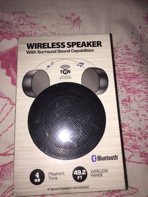 Wireless speaker surround sound capabilities for Sale in San Jose, CA