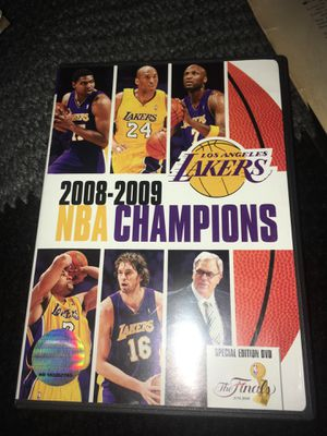 NBA Champions 2008-2009: Los Angeles Lakers (DVD, 2009) Kobe Bryant $10 for Sale in Fontana, CA