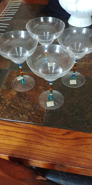 4 margarita glasses from Crate and Barrel for Sale in High Point, NC