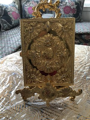 Beautiful Gold box for Quran and decoration too for Sale in Boston, MA