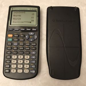 Ti 83 plus graphing calculator for math science ti-83 works cover clean college high school students for Sale in Burtonsville, MD