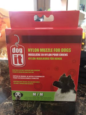 MEDIUM Nylon muzzle for dogs for Sale in Oxon Hill, MD
