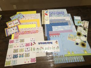 Spring, Flowers, themed scrapbooking lot for Sale in Gilbert, AZ