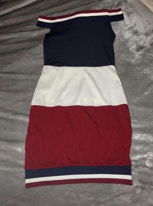 Bodycon dress szM it's red white and blue, never worn retails $45 for Sale in Dublin, OH
