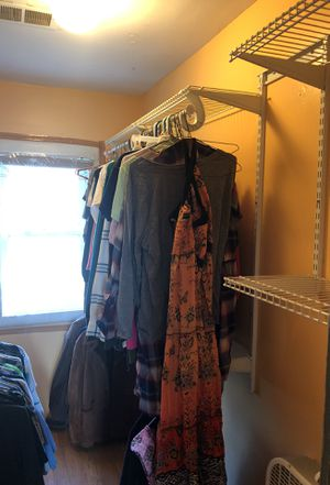 Closet wall mount shelving! Great for organizing a closet!! for Sale in Belleville, MI