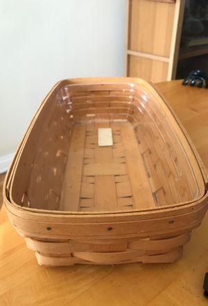 Longaberger collectible breadbasket with plastic insert for Sale in Los Angeles, CA
