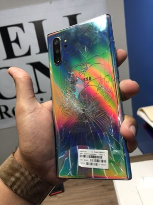 Samsung Galaxy note 10 plus factory unlocked cracked back for Sale in Dallas, TX