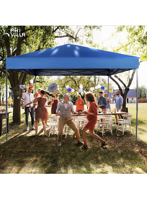 10 x 10ft Pop Up Canopy Event Tent Party Tent, 100 Sq. Ft of Shade (Blue)