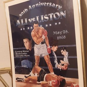 Muhammad Ali vs Sonny Liston 22x28 Boxing Poster for Sale in Land O' Lakes, FL