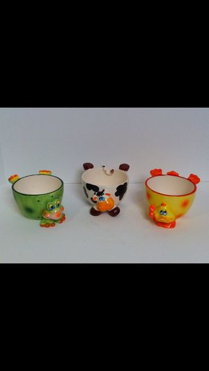 Snack Dessert Cereal Bowls with animal design for Sale in Alexandria, VA