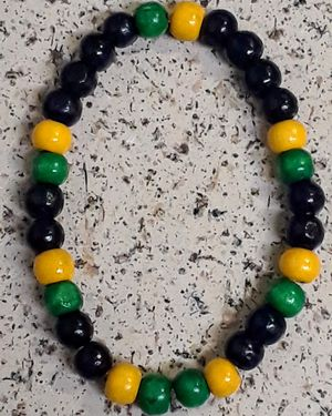 Jamaican Wood Bead Bracelet for Sale in Riverview, FL