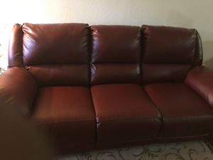Burgundy couch and recliner for sale,in very good condition, had it for three years. for Sale in Anchorage, AK