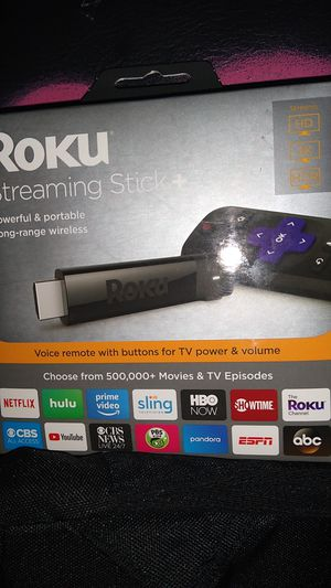Roku streaming stick + for Sale in Lincoln Acres, CA