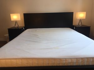 Memory Foam Queen Mattress for Sale (Bed Frame and 2 Nightstand Included) for Sale in Brooklyn, NY