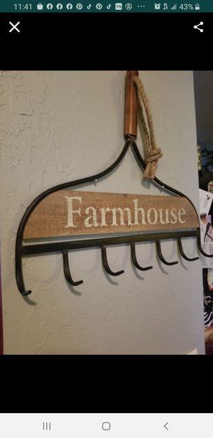 Farmhouse Rake Rack...18x16..Holds whatnots like keys and jewelry..shabby chic style farmhouse for Sale in Modesto, CA
