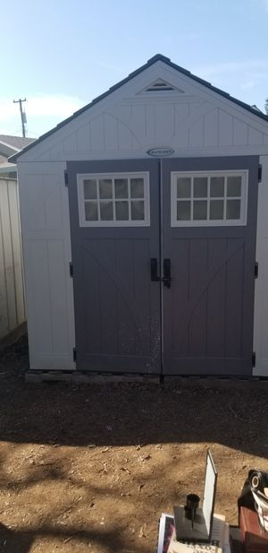 SUNCAST PLASTIC SHED 7X8 GREAT CONDITION ALREADY DISMANTLED for Sale in Vacaville, CA
