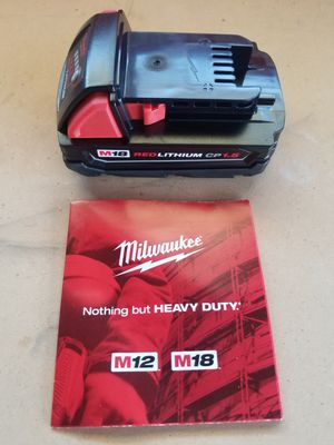 M18 Milwaukee Battery Brand NEW !!! for Sale in Bakersfield, CA