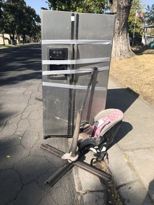 Free fridge and wood for Sale in Modesto, CA