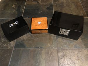 3 Jewerly Boxes Home Decor Storage Containers for Sale in Hickory Creek, TX