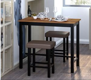 3 Piece Pub Table Set Counter Height Kitchen Breakfast Bar Dining Table w/Stools for Sale in Bay Point, CA