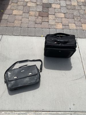 Leather Briefcase and Swiss rolling laptop bag for Sale in Henderson, NV