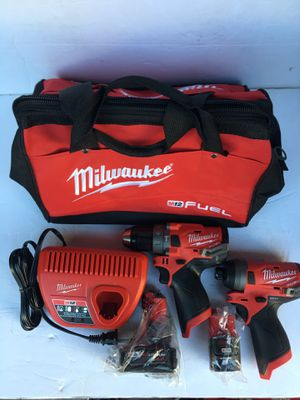 MILWAUKEE M12 FUEL HAMMER DRILL SET ( 2 batteries, Charger + carrying bag ) for Sale in Tamarac, FL