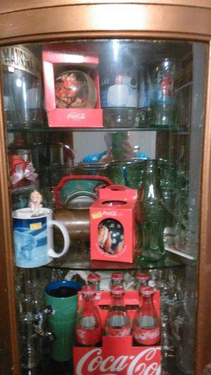 Coca cola items with glass case for Sale in Grawn, MI