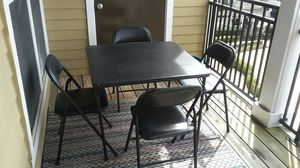 PATIO SET WITH 4 CHAIRS AND TABLE for Sale in Alexandria, VA