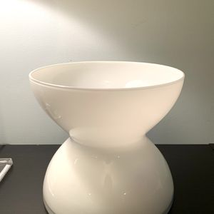 White Hourglass Shaped Decorative Vase for Sale in Newport News, VA