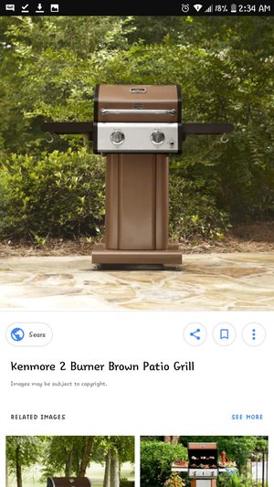 Kenmore 2 burner portable bbq grill with foldable table side for Sale in Denver, CO