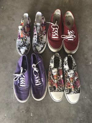 Ed Hardy/vans sneakers men's for Sale in Tamarac, FL