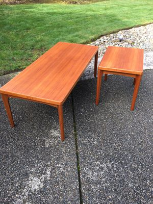 Mid Century Vejle Stole Mobelfabrik Coffee Table / End Table Set for Sale in Puyallup, WA