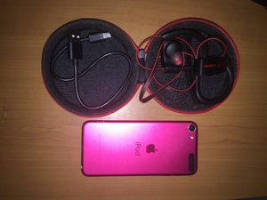 APPLE IPOD 5 + LETSCOM BLUETOOTH HEADSET W/USB CHARGER AND CASE for Sale in Seattle, WA