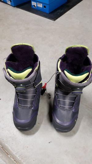6.5 US Womens small Felix Burton snowboard boots double boa for Sale in Chula Vista, CA
