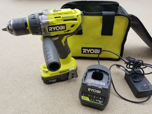 RYOBI 18-Volt ONE+ Lithium-Ion Cordless Brushless 1/2 in. Hammer Drill/Driver Kit for Sale in Murrieta, CA
