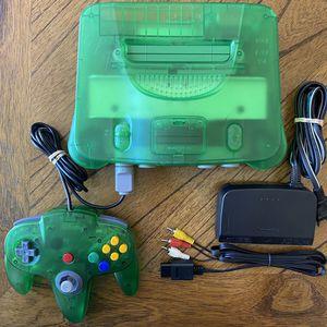 Nintendo 64 Funtastic Jungle Green. Refurbished N64 Console with Controller for Sale in Chula Vista, CA